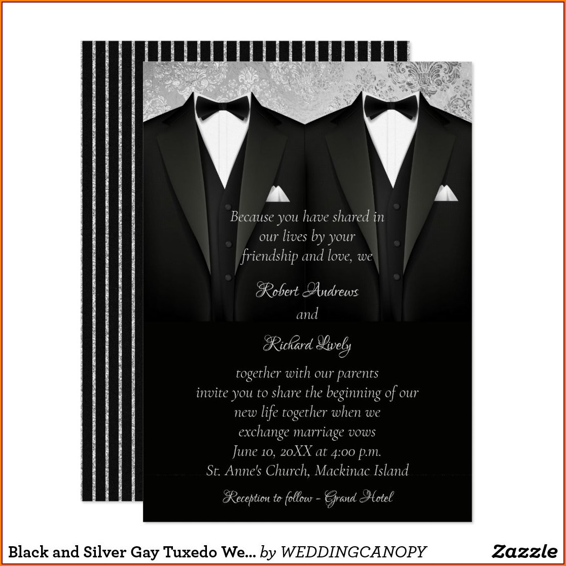 Gay Wedding Invitations Australia