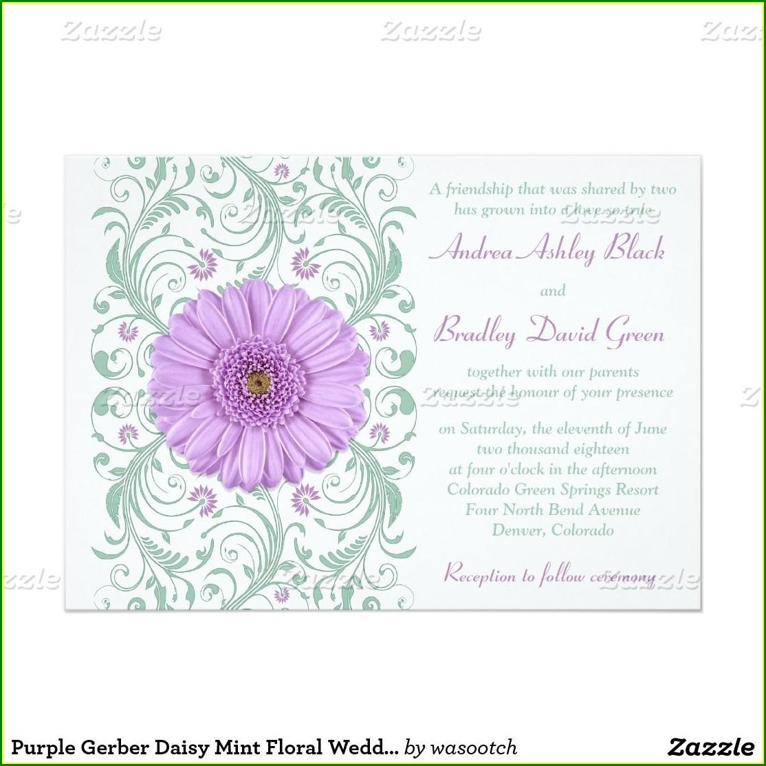 Gerber Daisy Wedding Invitations