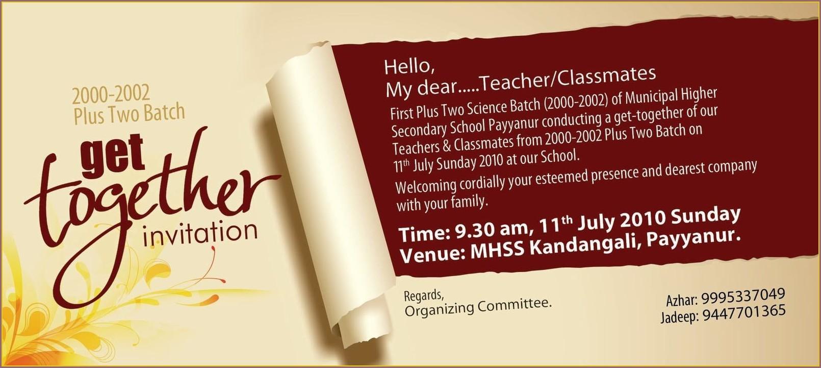 Get Together Invitation Template
