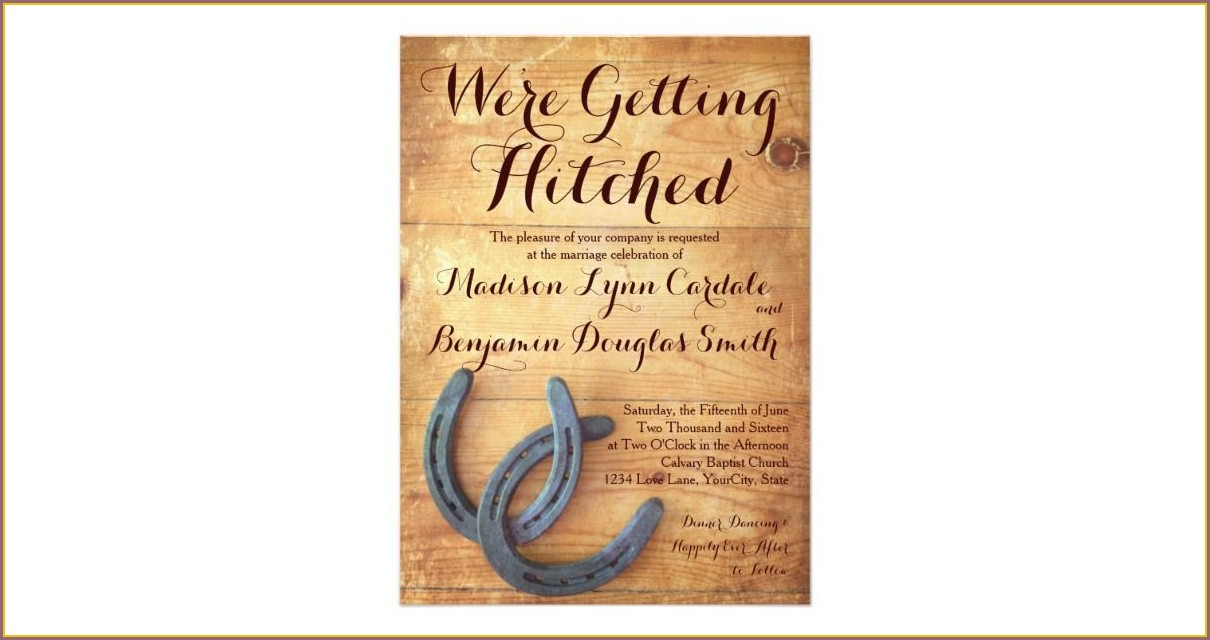 Getting Hitched Invitation Wording