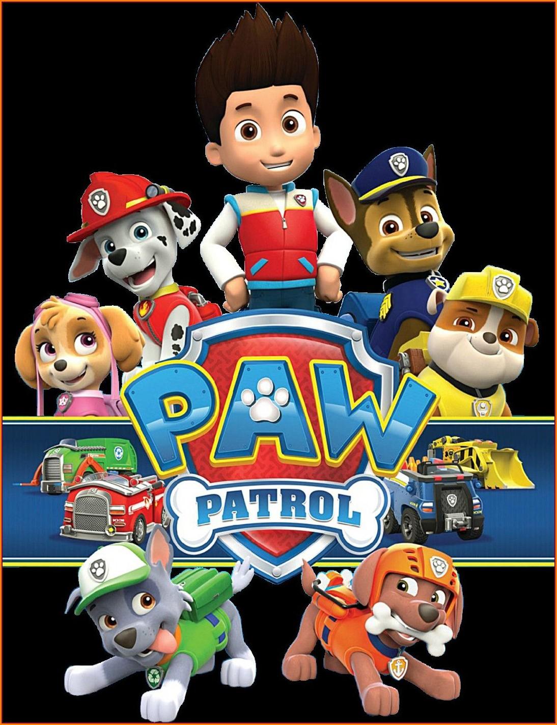 Girl Paw Patrol Invitation Template