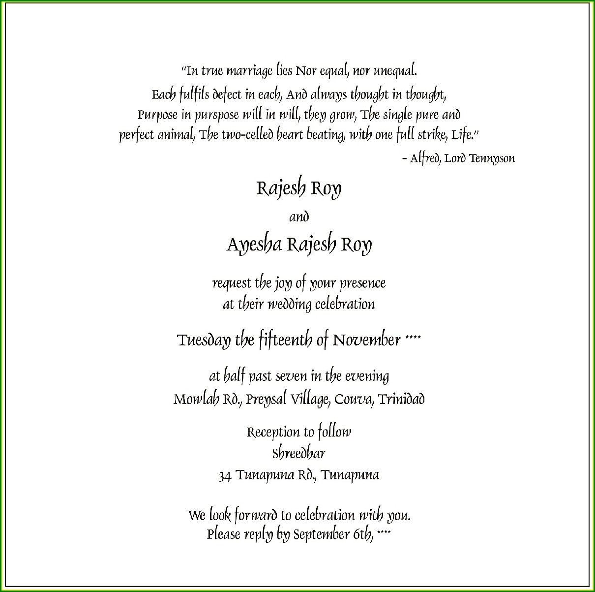 Godly Wedding Invitation Wording