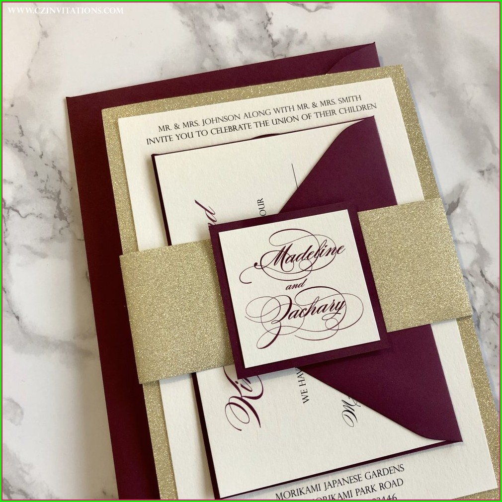 Gold Belly Band Invitation