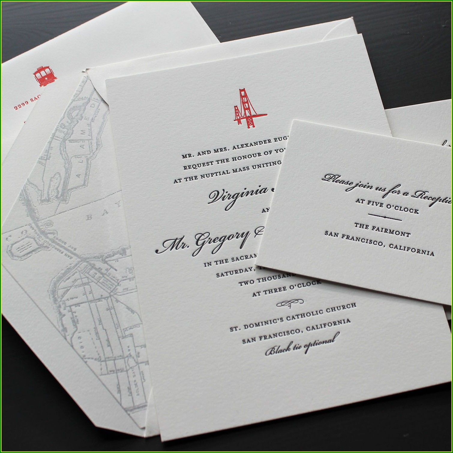 Golden Gate Bridge Wedding Invitations