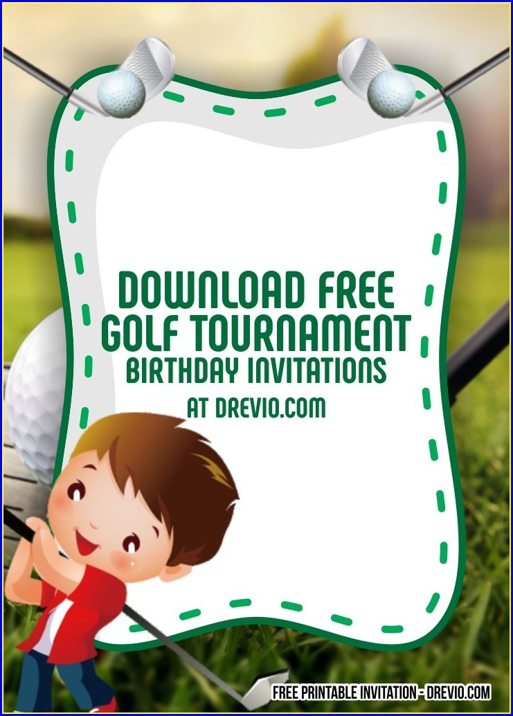 Golf Birthday Invitations Printable