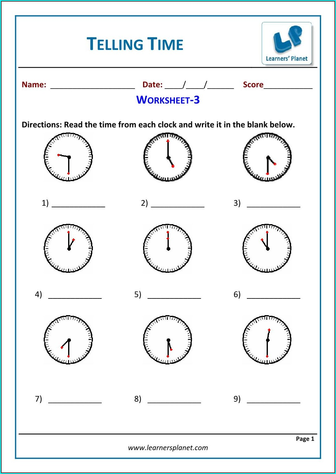Grade 4 Time Worksheets