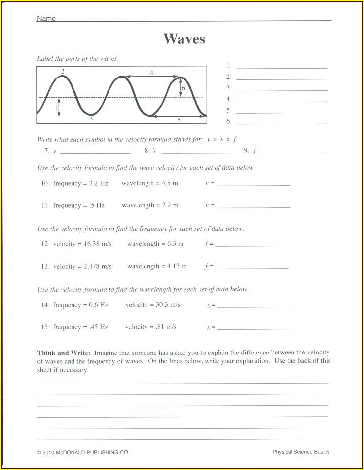 Grade 9 Science Electricity Worksheets Answers