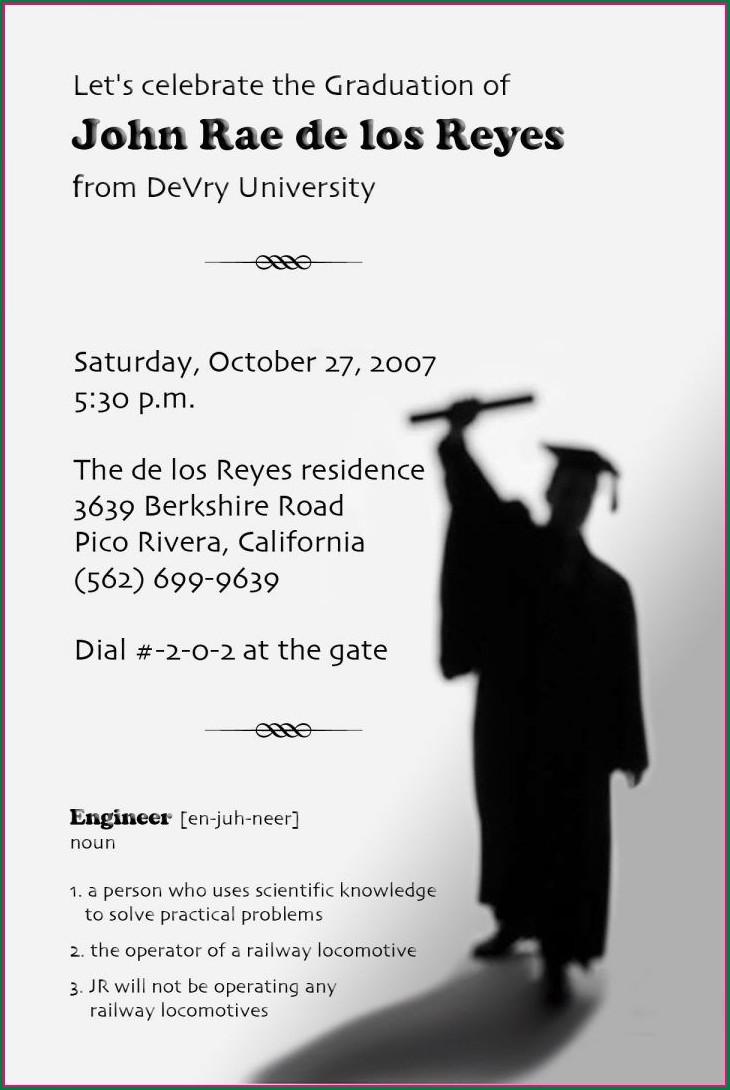 Graduation Announcement Graduation Invitation Wording Funny