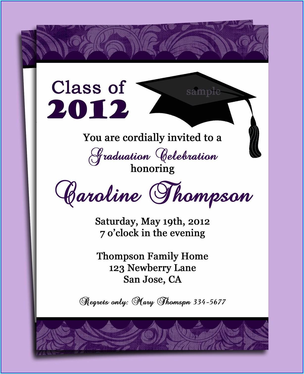 Graduation Ceremony Invitation Card Design
