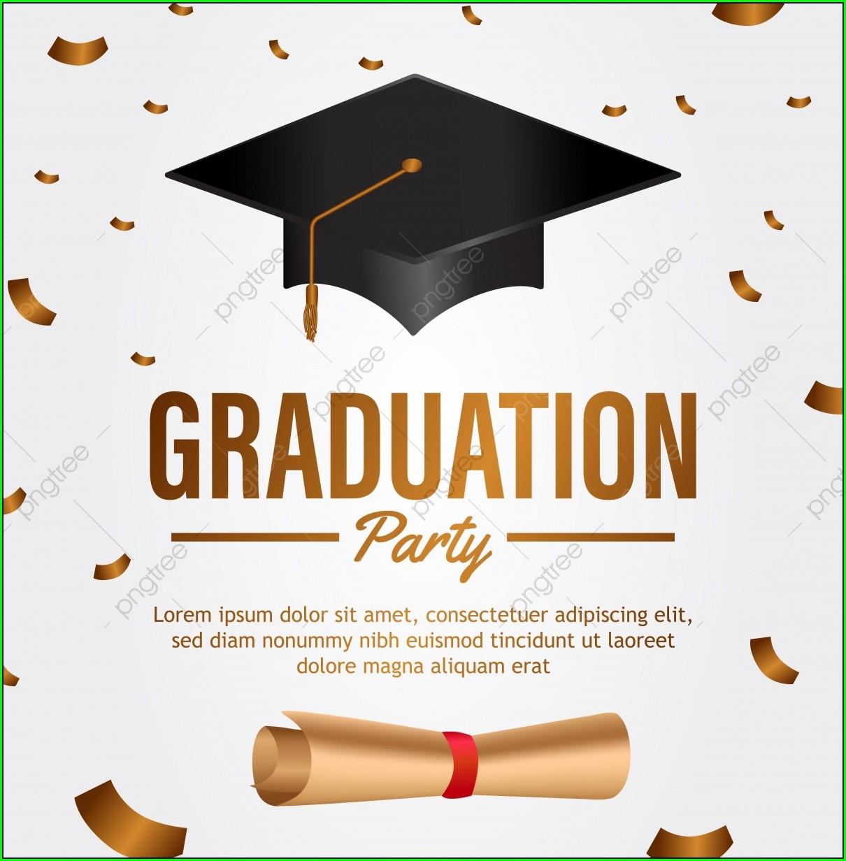 Graduation Invitation Card Design Vector Free Download