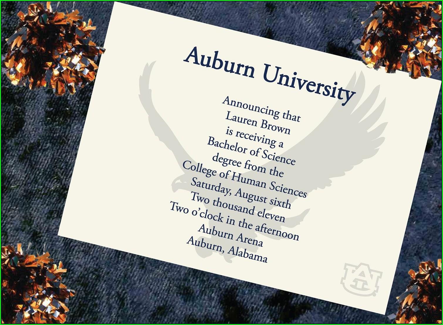 Graduation Invitation Card Formal