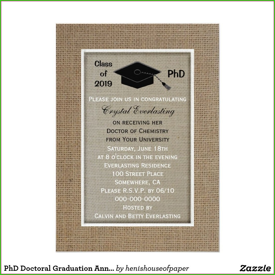 Graduation Invitations For Doctorate Degree