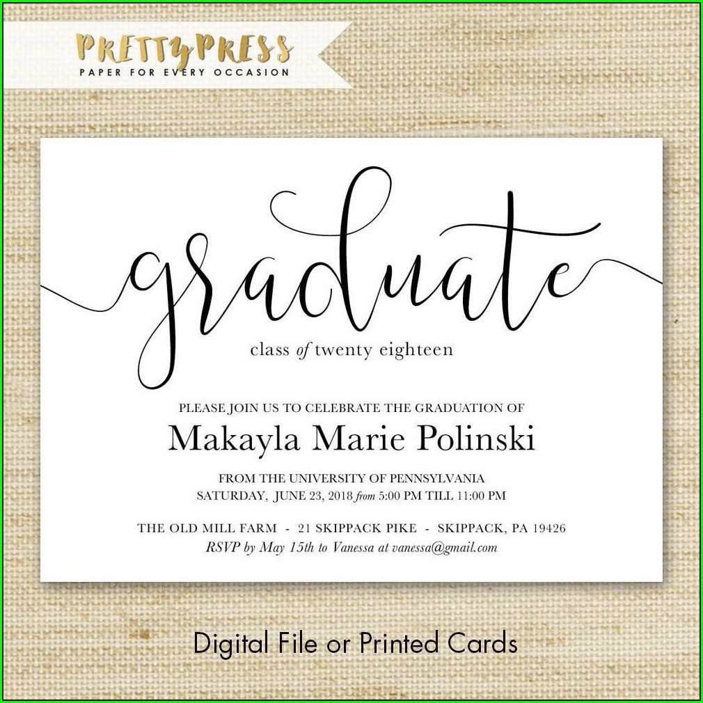 Graduation Invitations Free Shipping