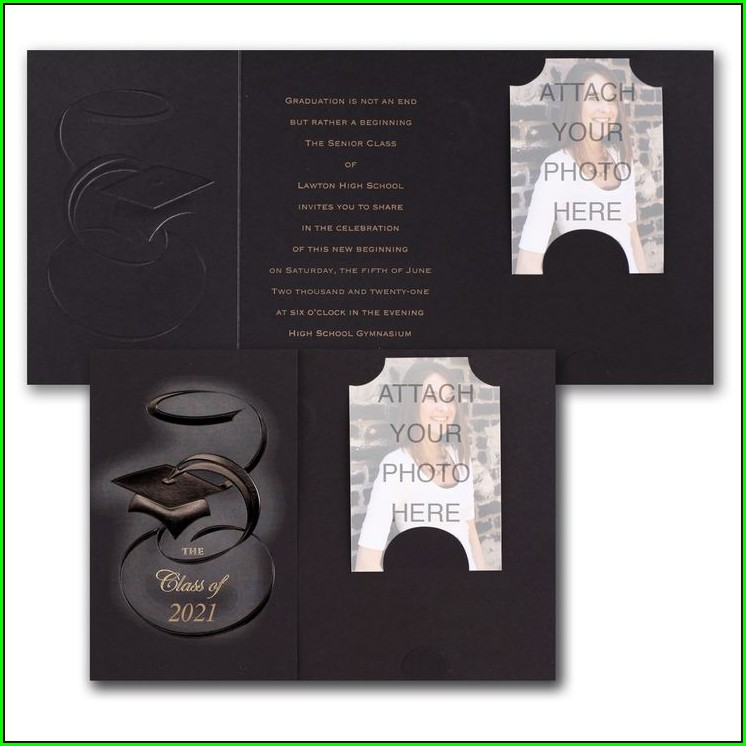 Graduation Invitations With Photo Inserts