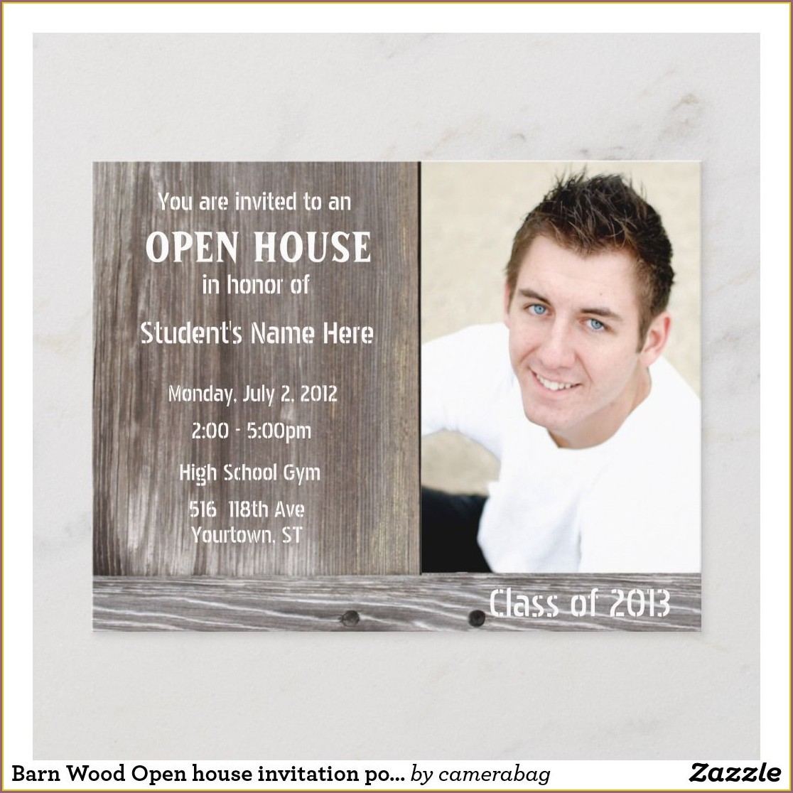 Graduation Open House Postcard Invitations