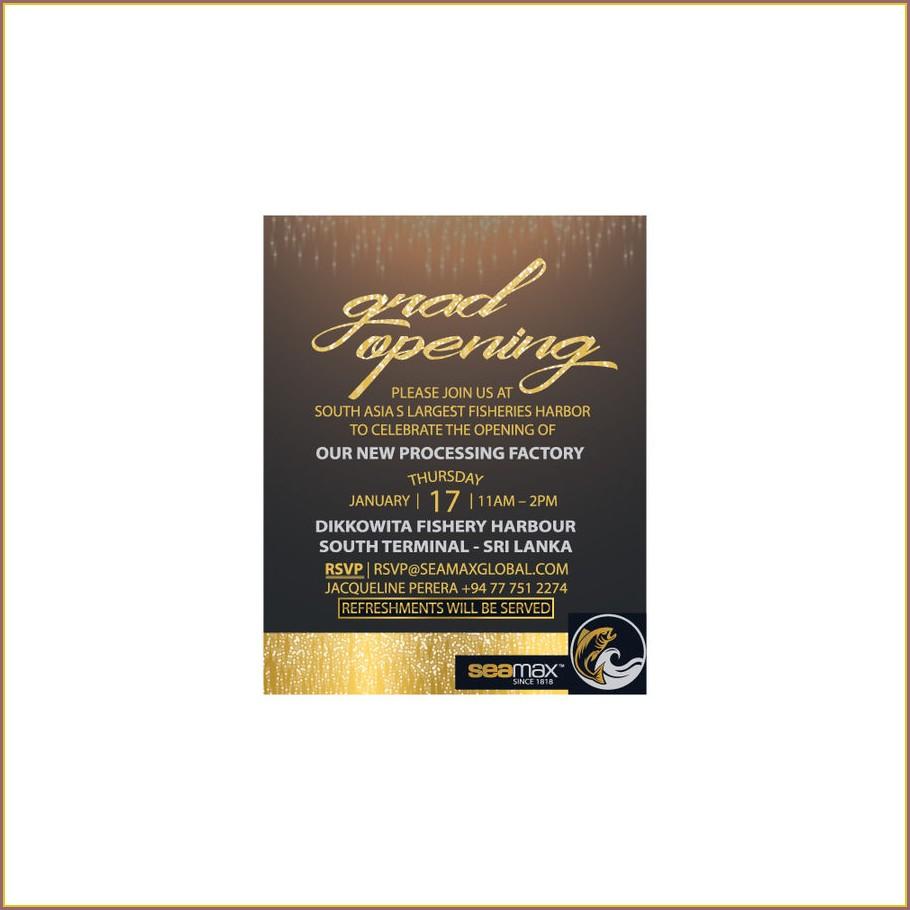 Grand Opening Invitation Card Design