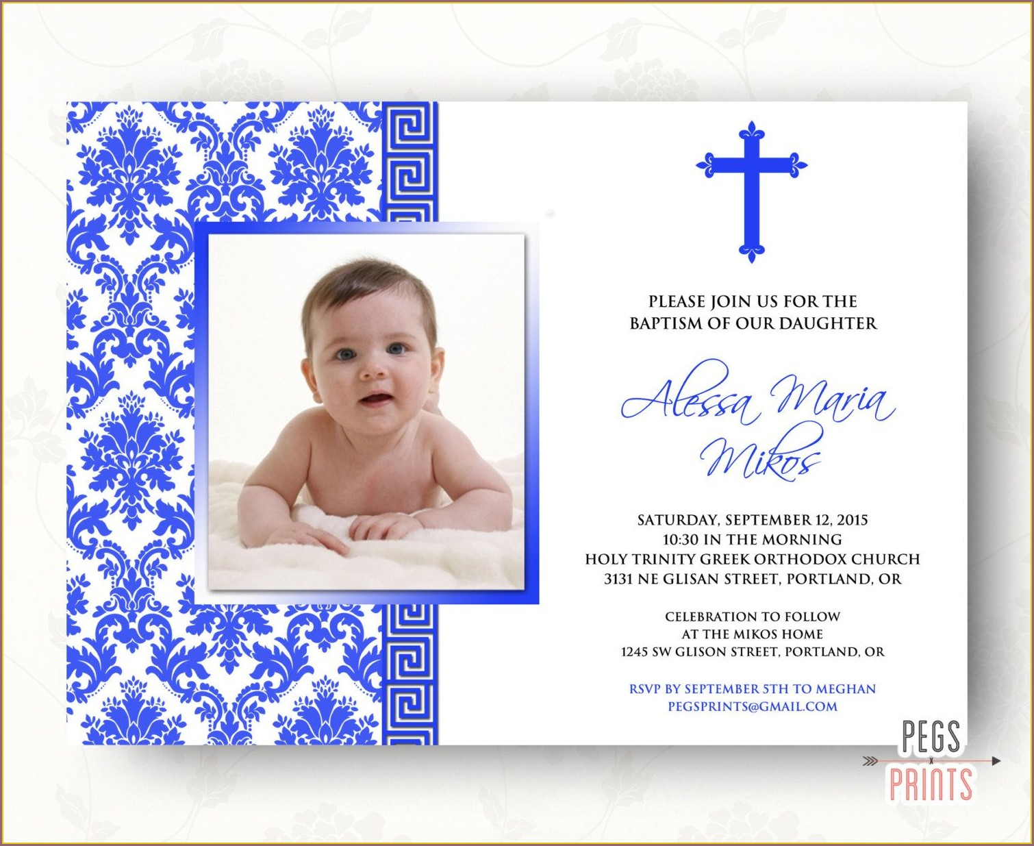 Greek Christening Invitation Wording