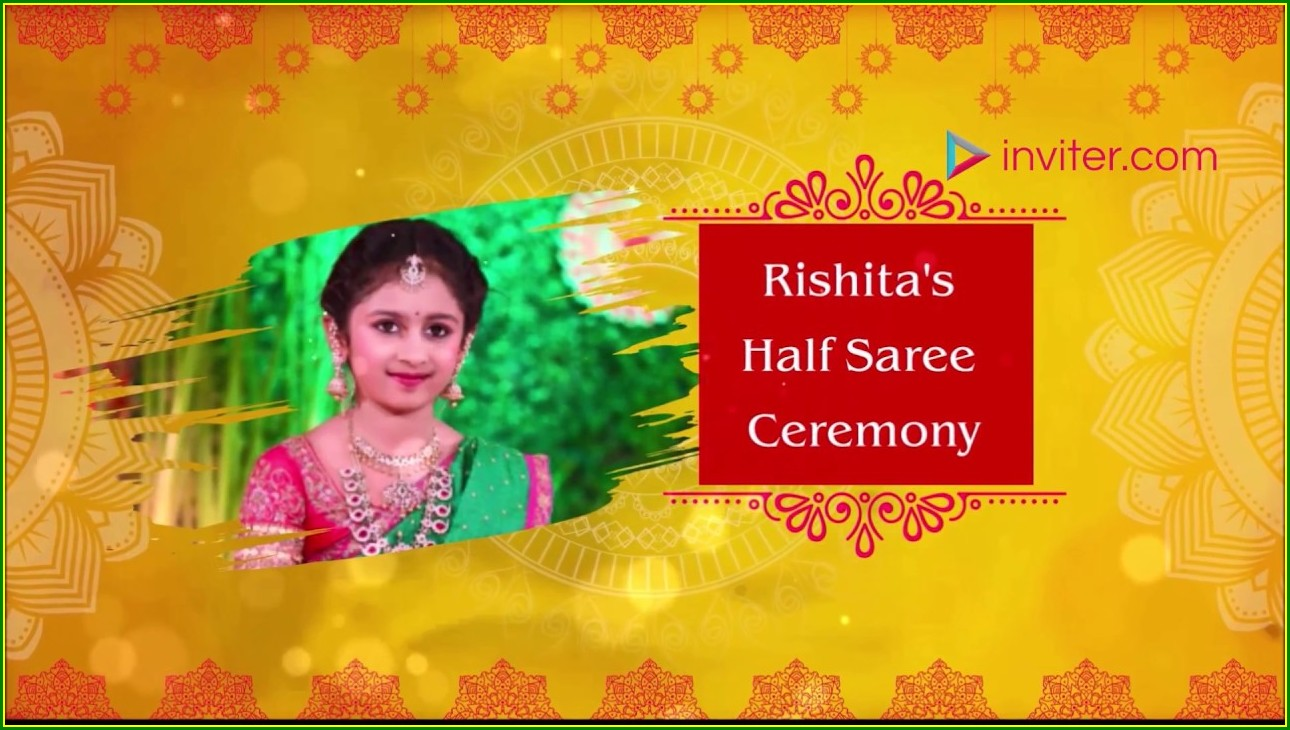 Half Saree Function Invitation Cards Online Free