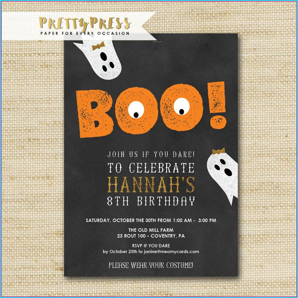 Halloween Birthday Invites Free
