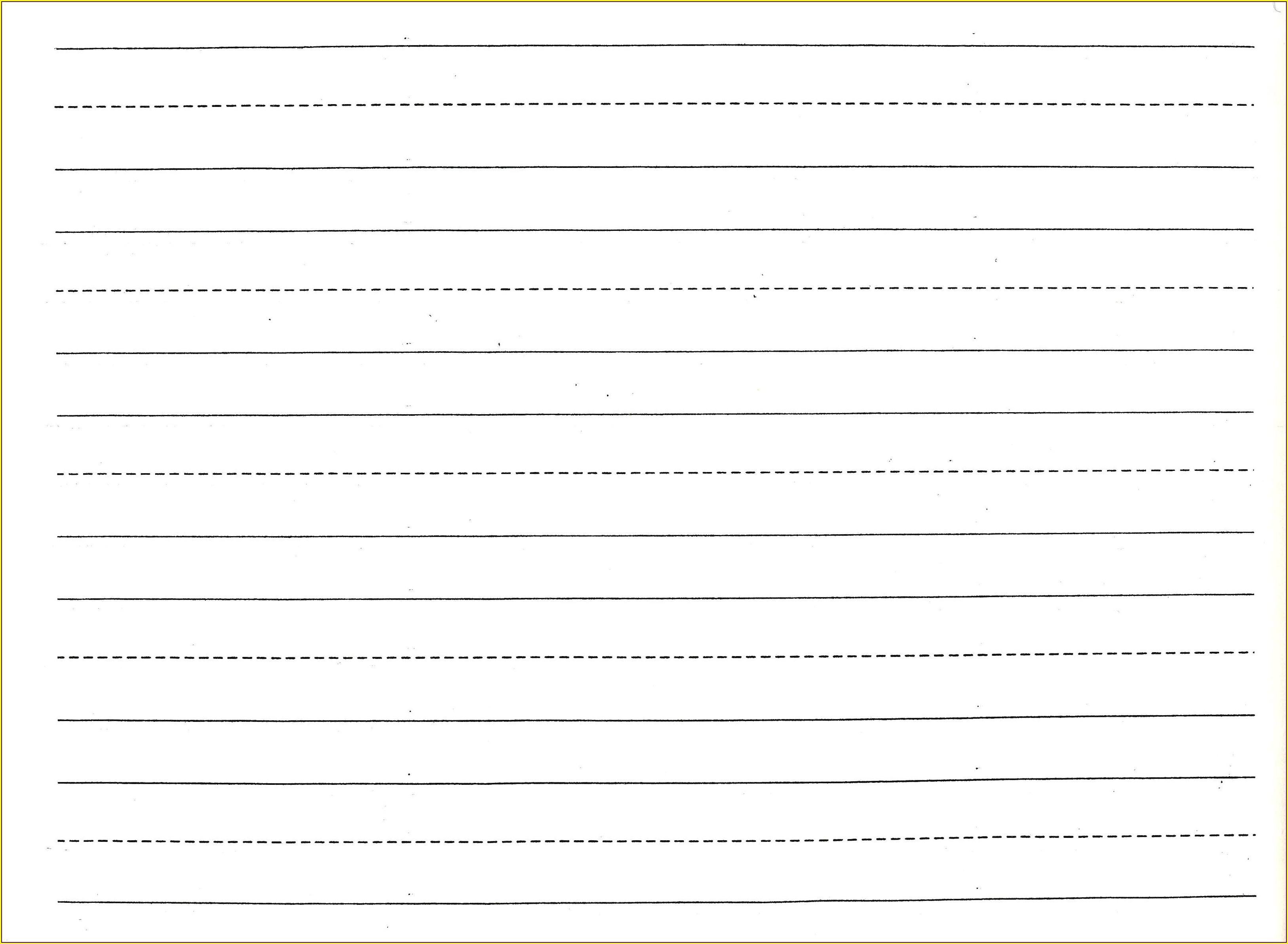Handwriting Practice Printable Preschool Writing Paper