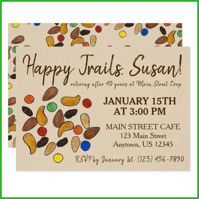 Happy Trails Retirement Invitation