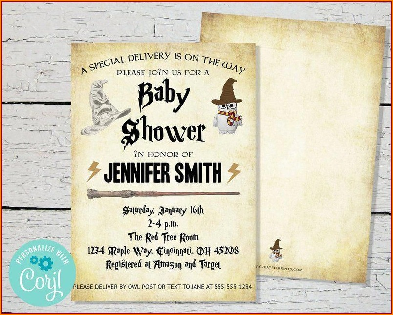 Harry Potter Invitation Template Editable