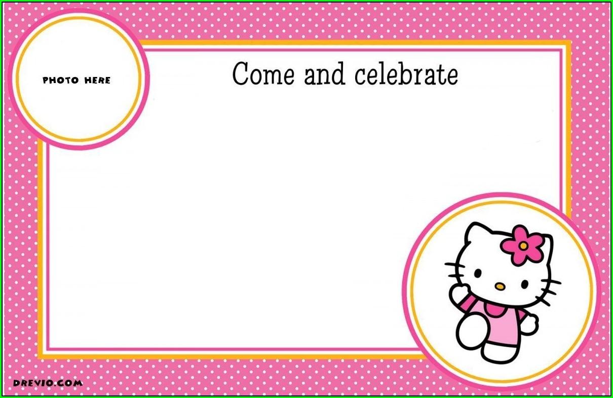 Hello Kitty Invitation Blank Layout