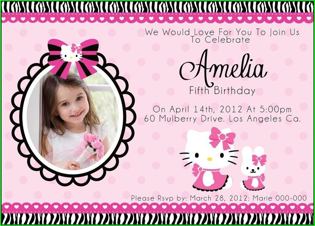 Hello Kitty Invitation Pinterest