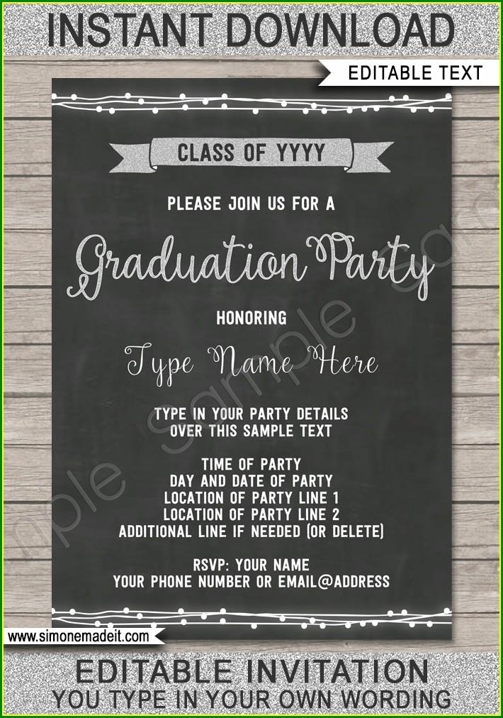 High School Graduation Invitations Templates