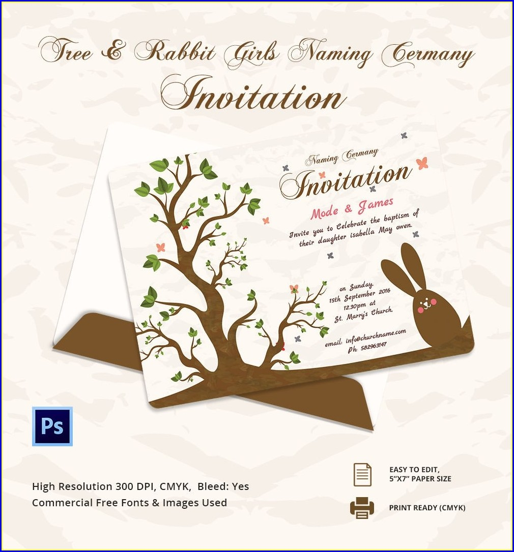 Hindu Baby Naming Ceremony Invitation
