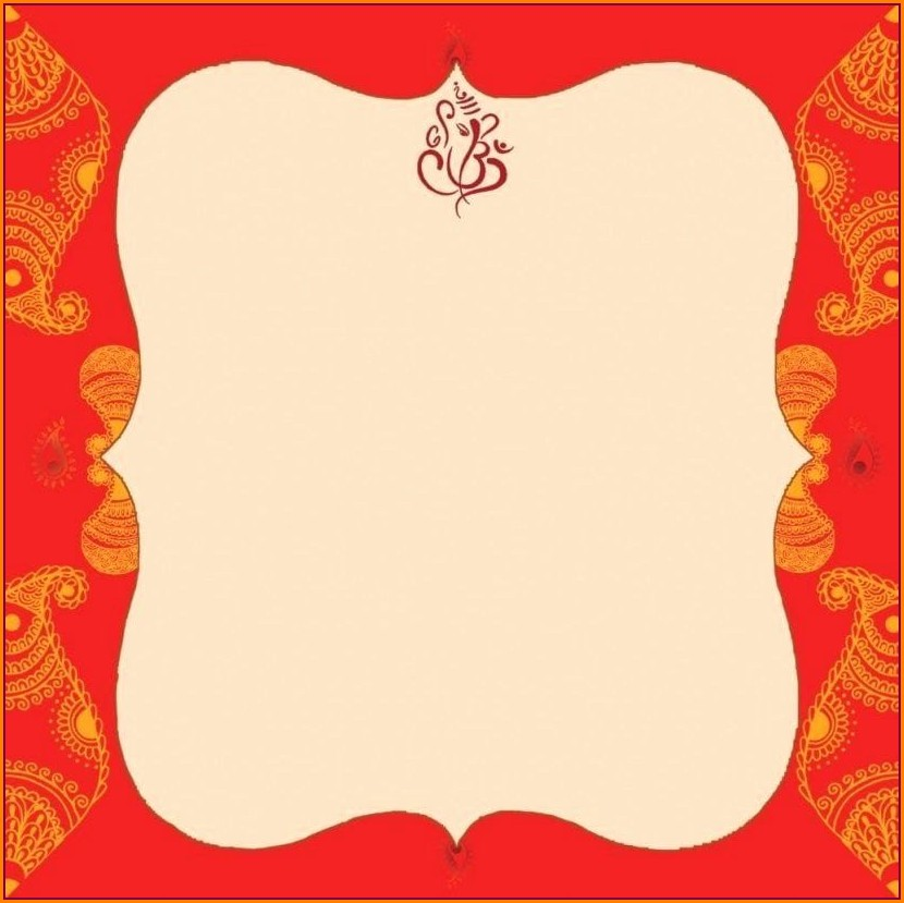 Hindu Blank Indian Wedding Invitation Templates