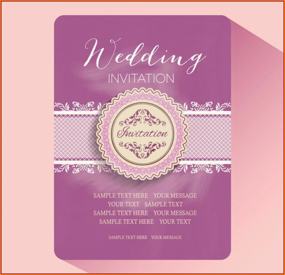 Hindu Wedding Invitation Card Template Free Download