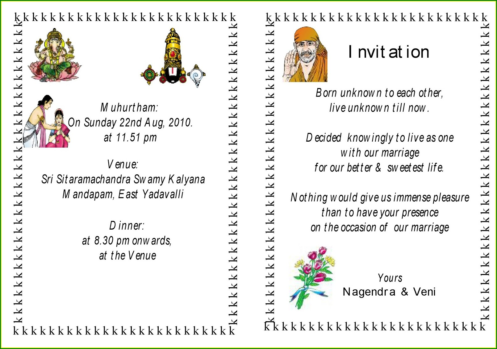 Hindu Wedding Invitation Wordings For Friends