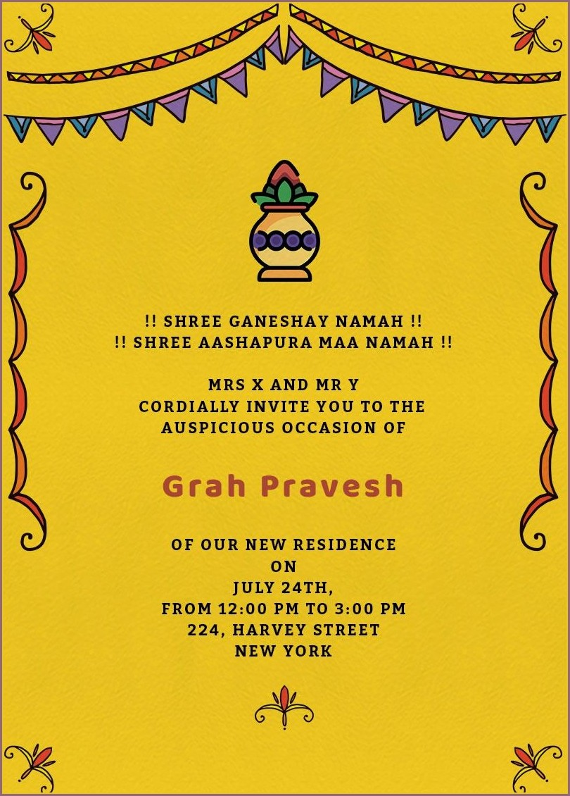 House Warming Invitation Card Online India
