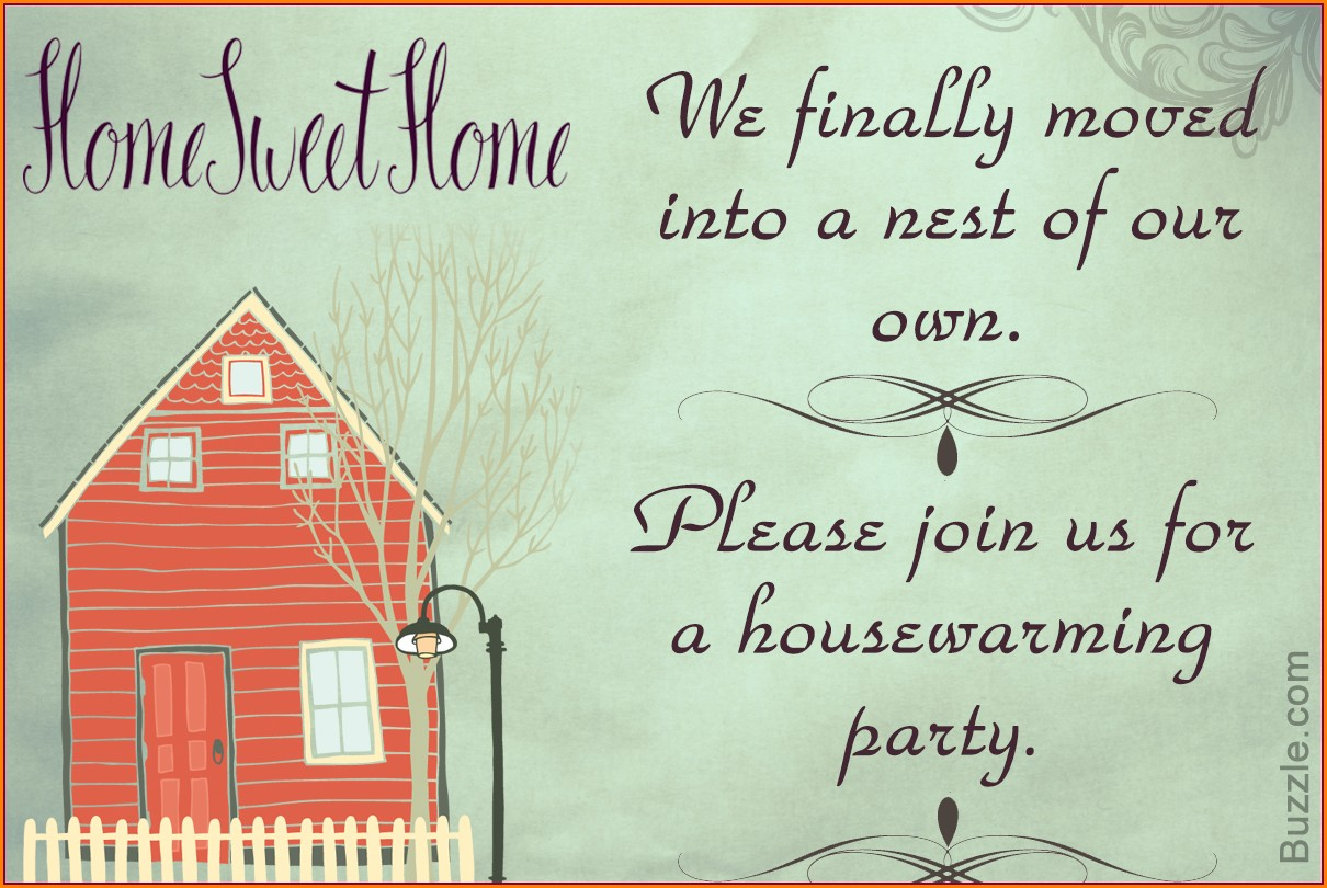 House Warming Invitation Message In English
