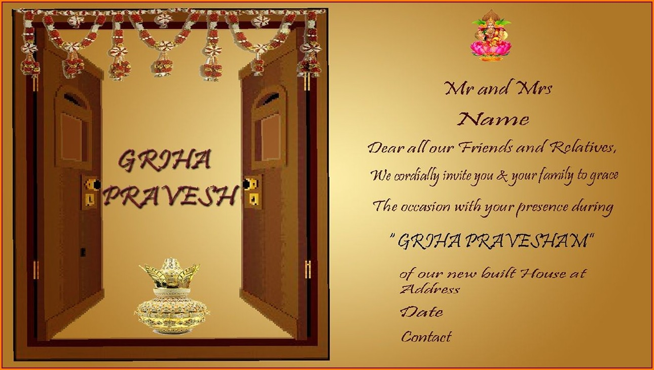 House Warming Invitation Message In Malayalam