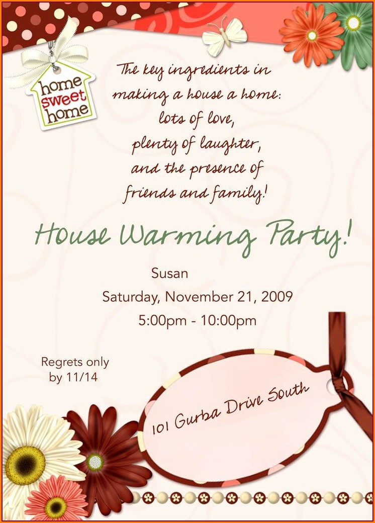 Housewarming Invitation Ideas Wording