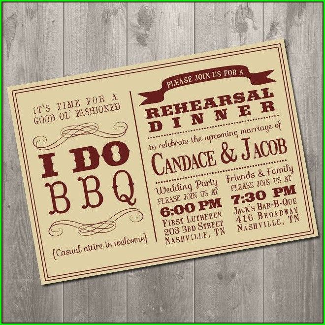 I Do Bbq Rehearsal Dinner Invitations