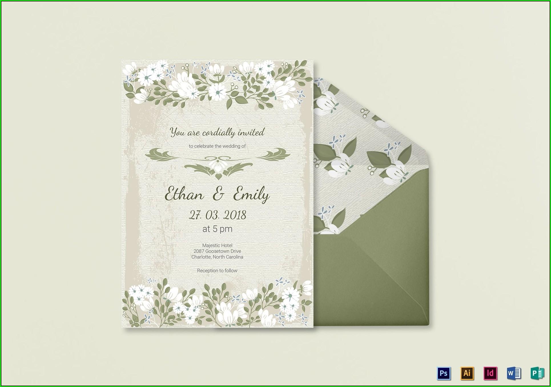 Illustrator Wedding Invitation Template