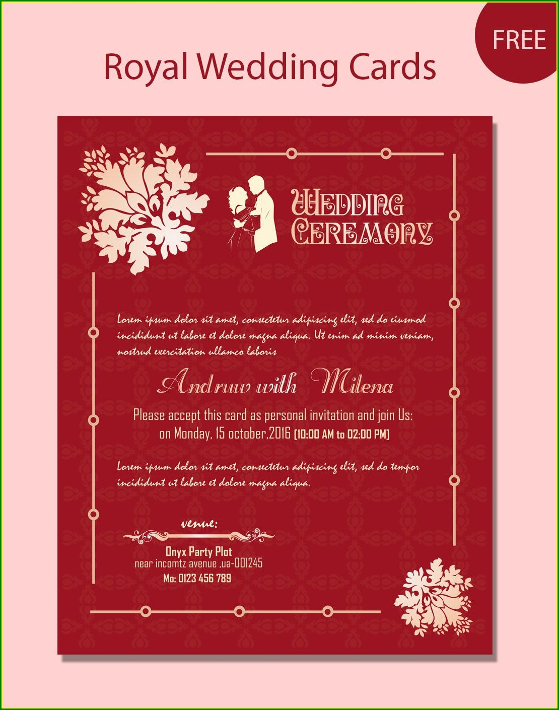 Indian Wedding Invitation Matter