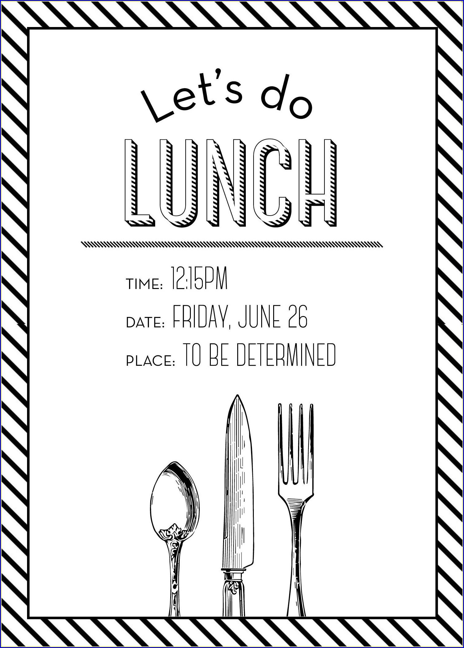 Informal Lunch Invitation Wording