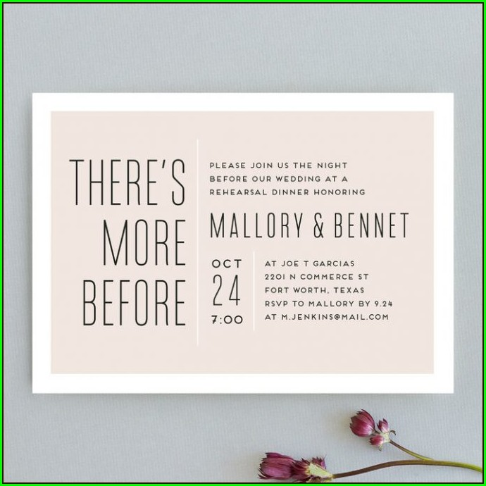 Informal Rehearsal Dinner Invitation Wording