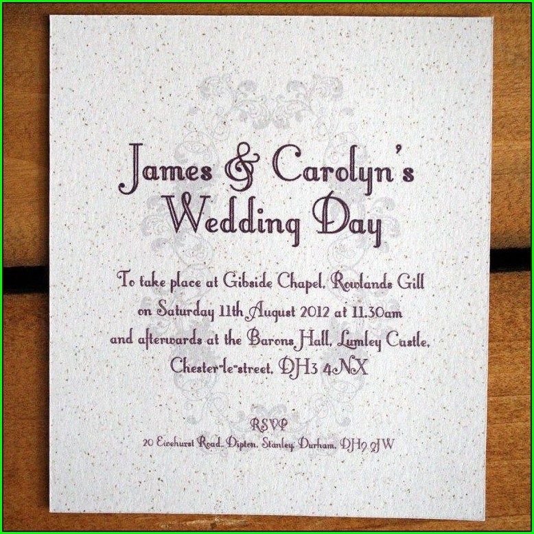Informal Second Wedding Invitation Wording