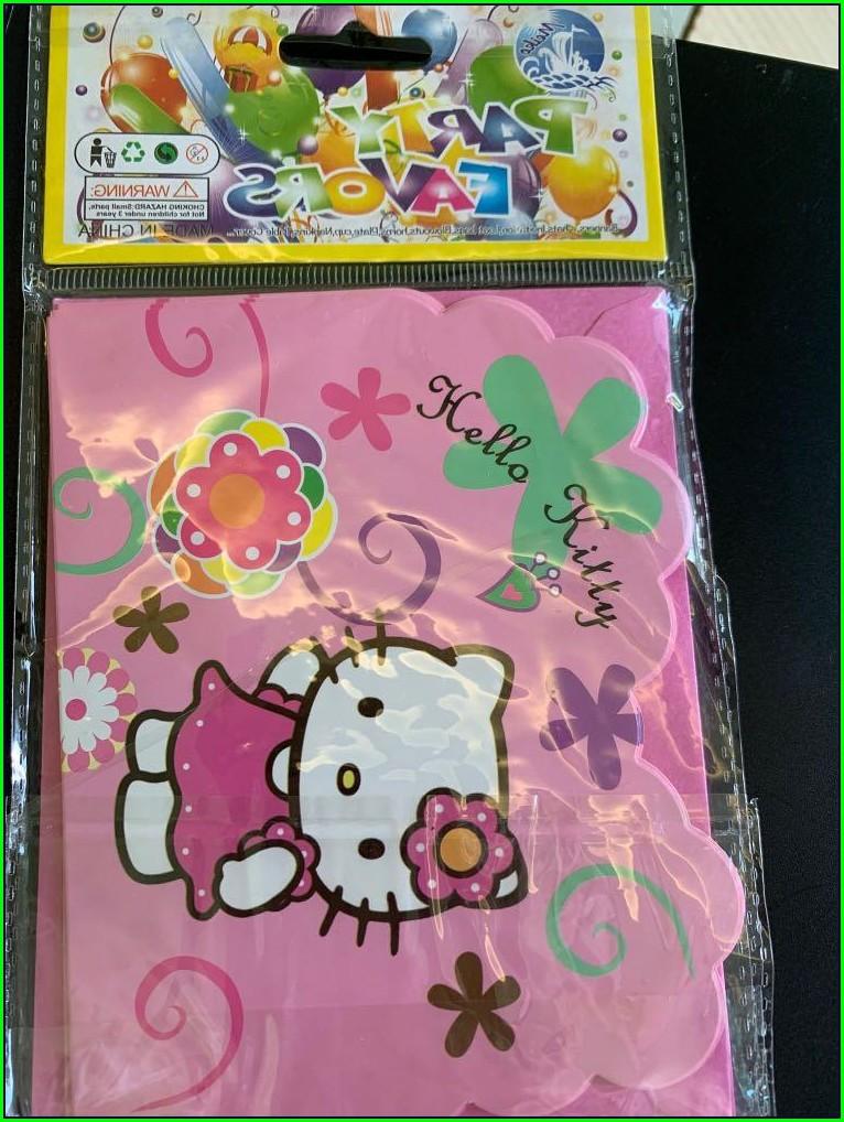 Invitation Card Hello Kitty Design