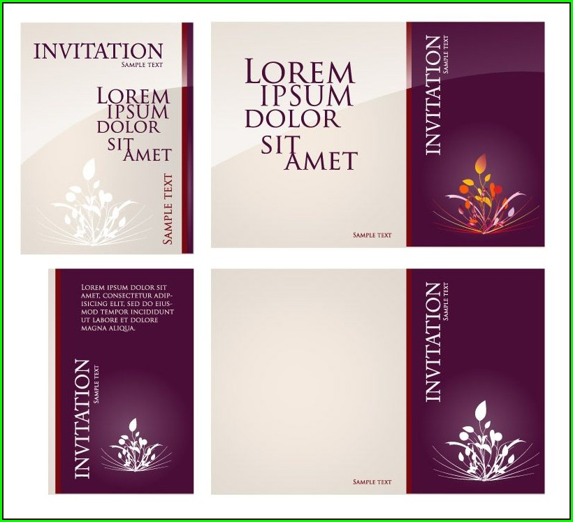Invitation Card Vector Free Download