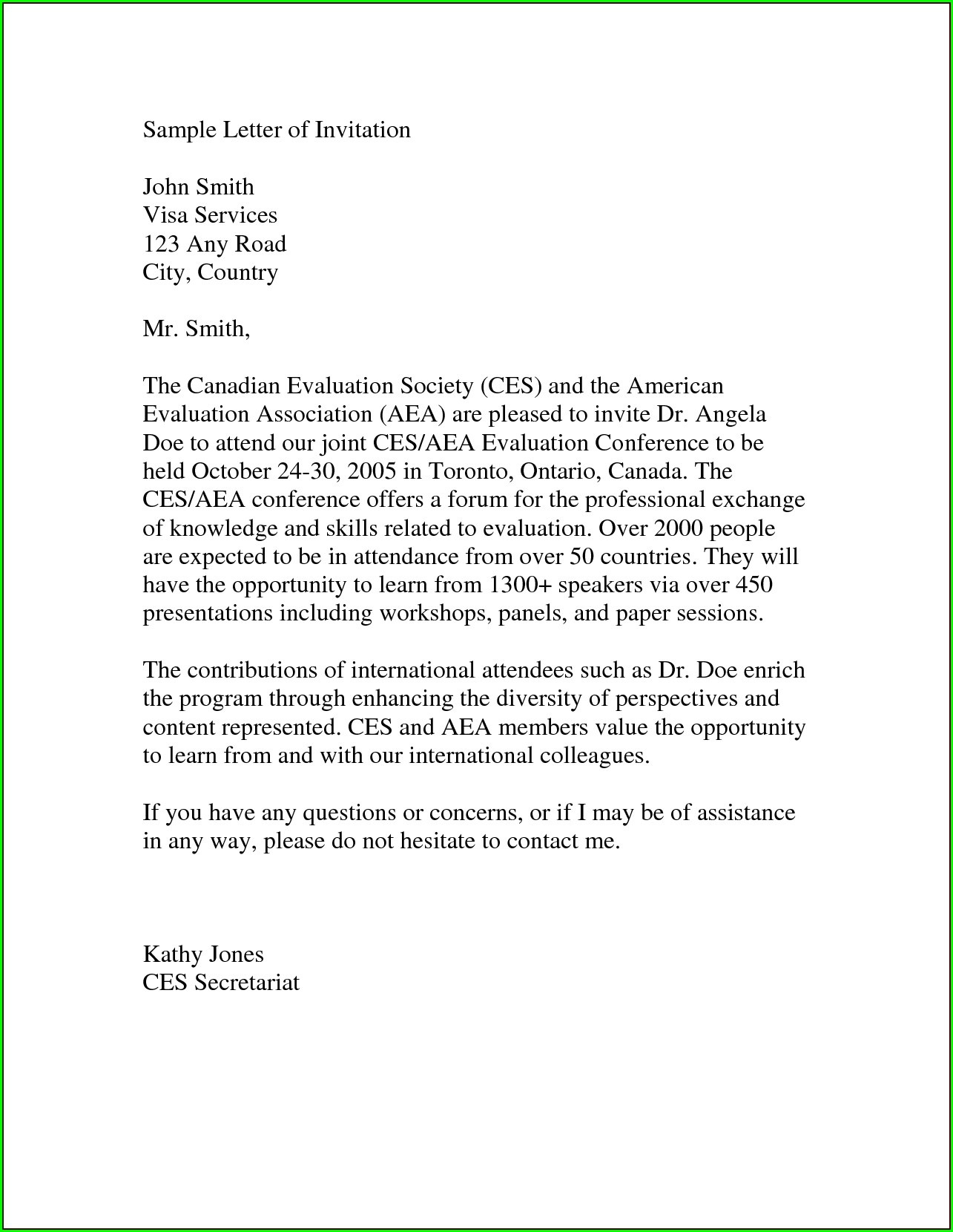 Invitation Letter For Australian Tourist Visa For Friend