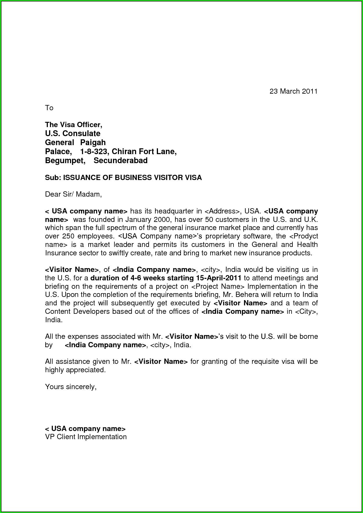 Invitation Letter For Australian Tourist Visa For Sister