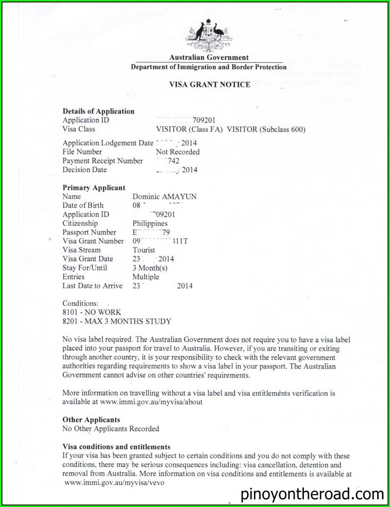 Invitation Letter For Australian Tourist Visa
