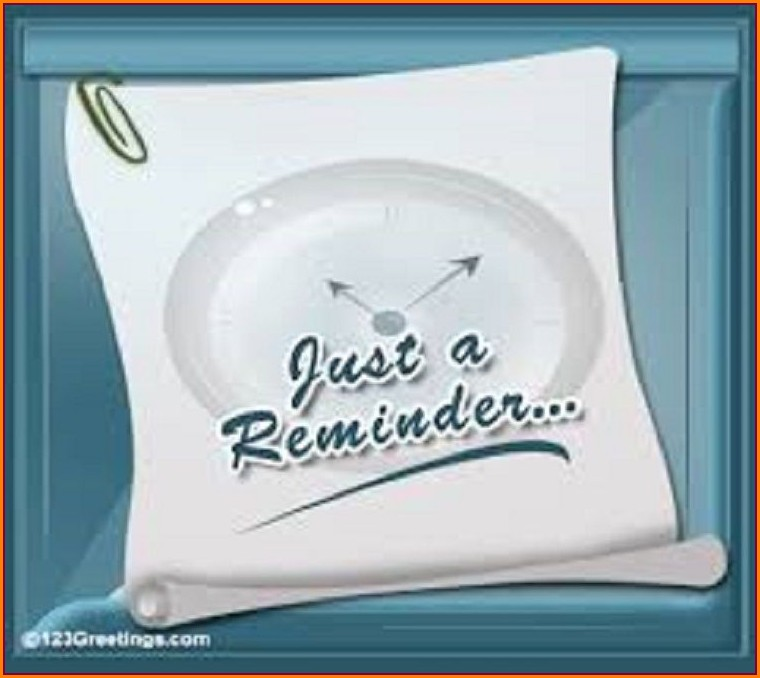Invitation Reminder Text Message Sample