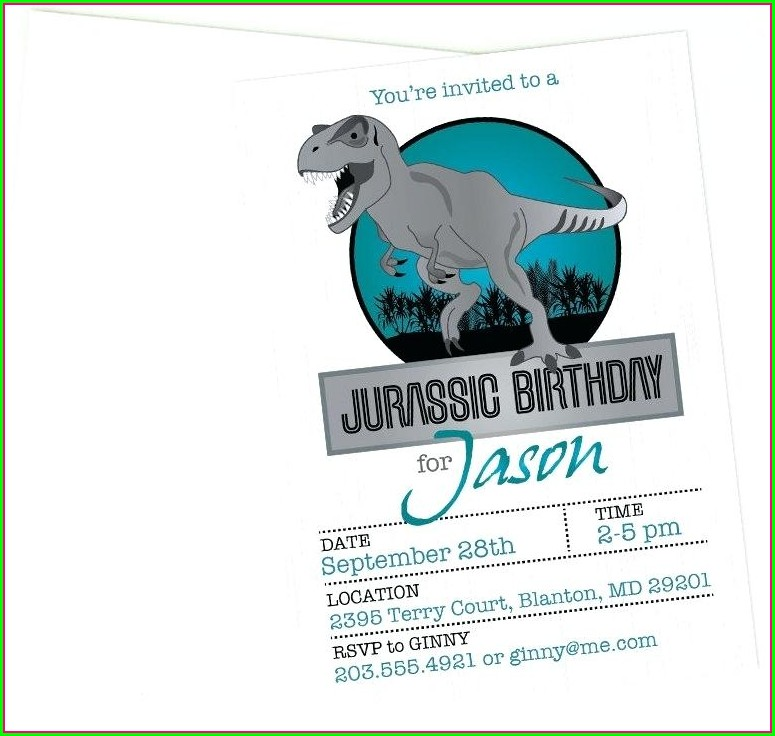 Invitation Template Free Printable Jurassic World Invitations
